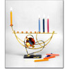 Broken Wedding Glass Menorah rosenthal by Gary Rosenthal