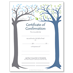 Confirmation Jewish Life Cycle Certificate
