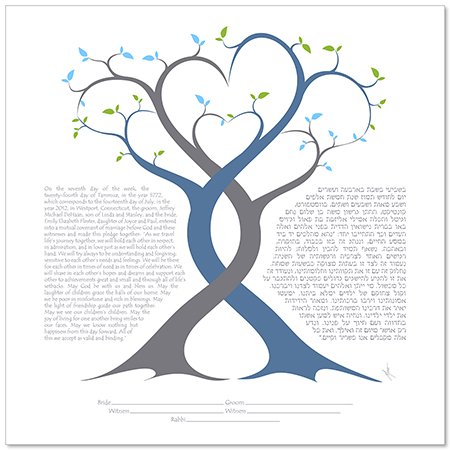 A Lover's Embrace III  Ketubah by Micah Parker