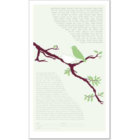 A Perfect Pair II  Ketubah by Victoria Corbett