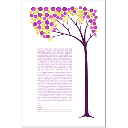 A Spring Daydream  Ketubah by Micah Parker