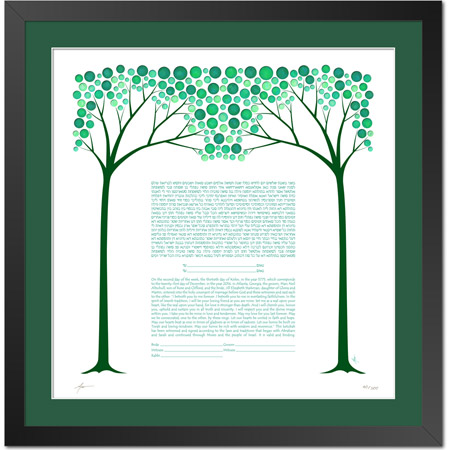 A Summer Night's Dream  Ketubah -- shown with optional framing