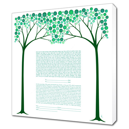 A Summer Night's Dream  Ketubah -- shown with optional Museum Wrap