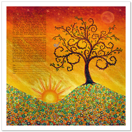 Bring on the Bright  Ketubah by Lisa Loudermilk