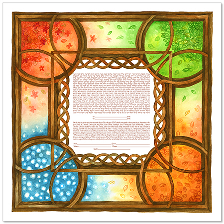 For Every Season II  Ketubah by Claire Carter