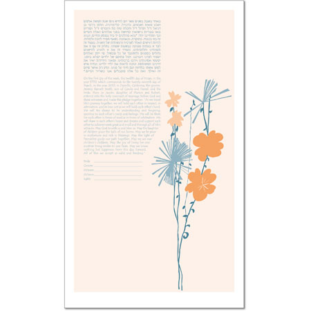 For You II  Ketubah by Victoria Corbett