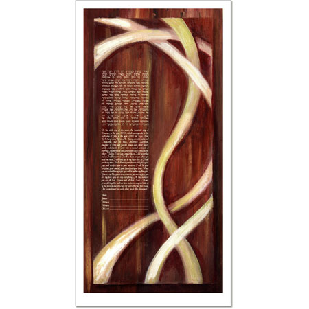 Golden Strands  Ketubah by Claire Carter