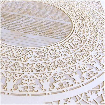 Grace- Ketubah -- Papercut Detail