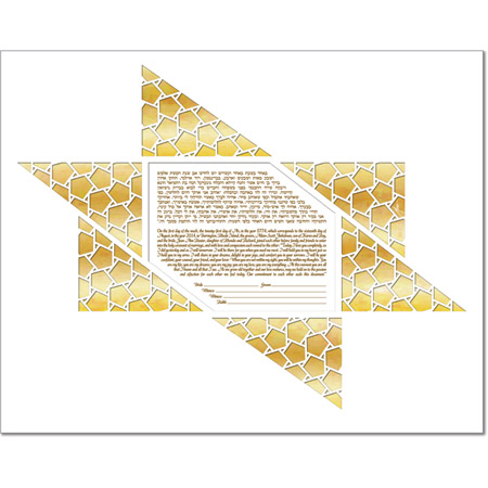 Ice Star I  Ketubah by Micah Parker
