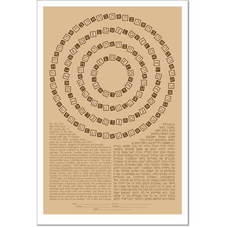 Mesmerized by Your Love III  Ketubah by Micah Parker
