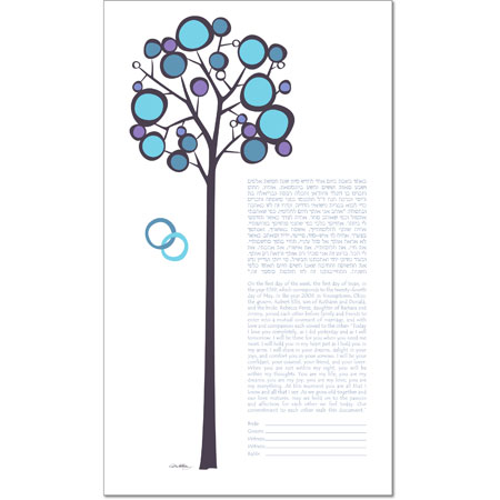 Our Long Romance III  Ketubah by Michelle Dwyer