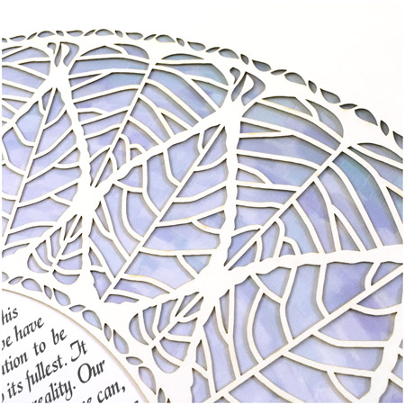 Ring of Life VI- Ketubah -- Papercut Detail
