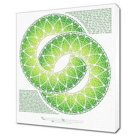 Rings of Life I  Ketubah -- shown with optional Museum Wrap