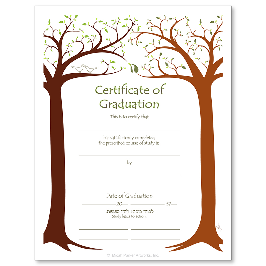 Jewish life cycle certificates bar and bat mitzvah confirmation graduation xflitez Images